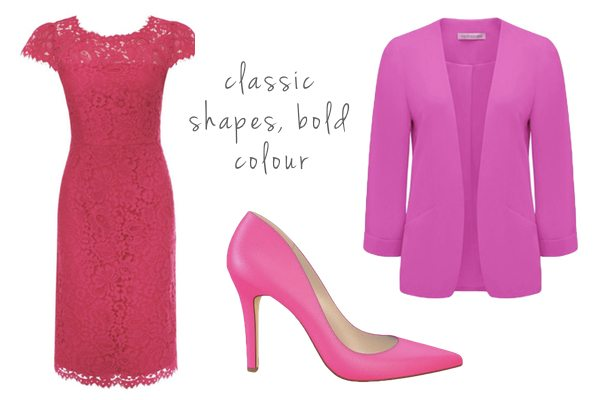 Classic shapes with pink